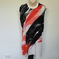 'DECJUBA' BNWT SIZE 'S/M' MULTI COLOURED/PRINT CAP SLEEVE  DRESS, EASY CARE