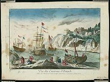 ANTIQUE 18thC c1770 Vue d'Optique VUE DES ENVIRONS D'OSTENDE, Jacques Cheareau