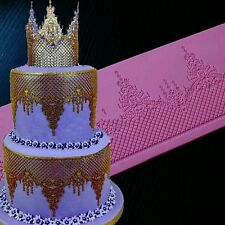 New Tiara Lace Mat Fondant Mould Sugar Cake Lace Chocolate Sugarcraft Wedding UK