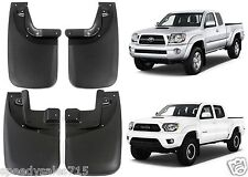 Front & Rear Molded Deluxe Mud Flaps For 2005-2015 Toyota Tacoma New Free Ship