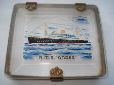 """C1950S VINTAGE R.M.S.""""ANDES"""" PERSPEX SOUVENIR CIGARETTE BOX"""