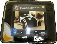 Pittsburgh Steelers NFL Applique Twin Size 5-Piece Bedding Set