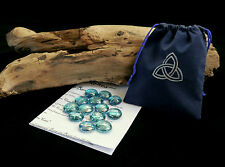 13 WITCHES RUNES & BAG Witch Wicca pagan Triquetra