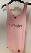 Shirt Peoples Liberation Pink Size Medium Tank Top Red Star on front Soft Cotton