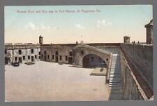 [50874] OLD POSTCARD ROMAN ARCH & RUN WAY, FORT MARION in St. AUGUSTINE, FLORIDA