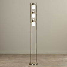 Pillar Floor Lamp Adjustable Modern Light Frosted Glass Rotary Socket White New