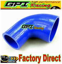 """90 Degree 76-102mm 3"""" to 4"""" Silicone Elbow Reducer Hose INTAKE INTERCOOLER PIPE"""