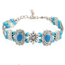 Hot Fashion Tibetan Silver Jewelry Beads Bangle Turquoise Chain Bracelets