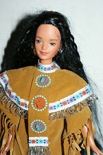 Native American Barbie DOTW, DOLLS OF THE WORLD, in good shape