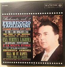 LP-FERRUCCIO TAGLIAVINI-SERIE BEL CANTO VOL.2-ITALIA ANNI '60