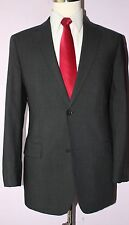 Hugo Boss Gray Solid Wool Two Button Side Vented Suit 40 R 34 28 Flat Front 40R