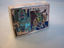 Egyptian design enamel on  silver box
