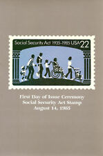 #2153 First Day Ceremony Program 22c Social Security Stamp