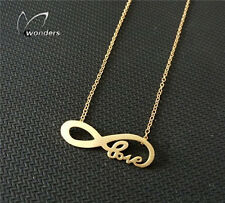 Valentines Gift Infinite Love Necklace Gold color Buy One Get One Free