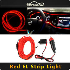 3M 12V Car LED EL Wire Red Cold light lamp Neon Lamp Atmosphere Lights Unique