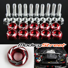 40 x RED CNC ALUMINUM BUMPER/FENDER/ENGINE BAY SCREW/WASHER/BOLT DRESS UP KIT