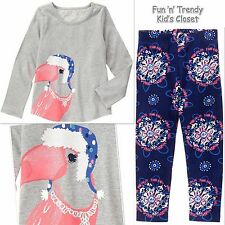 NWT Gymboree MIX N MATCH Girls Size Small 5-6 Toucan Tee Top & Leggings 2-PC SET