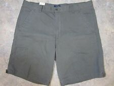 Dockers Shorts Size 40 Men's Flat Front Solid Blue Cotton Smart Phone Pocket NWT