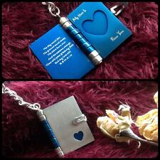 Gifts for him mens her valentines day Love Romantic Heart Locket Book I You ❤️