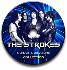 THE STROKES INDIE ALTERNATIVE ROCK GUITAR TABS TABLATURE SONG BOOK SOFTWARE CD