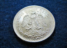 1937 Mexico Silver 50 Centavos - Well Struck Bright Uncirc - Free U S Shipping