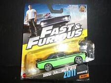 Hot Wheels Dodge Challenger SRT8 2011 Green Fast and Furious 1/55