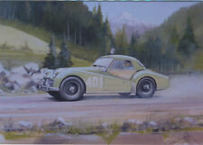 Triumph TR3A Alpine Rally Blank Birthday Card