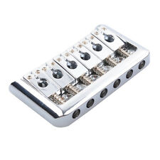 6-String Fixed Hardtail Guitar Bridge for Electric Guitar 10.5mm Top Load Chrome