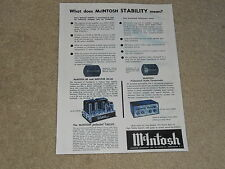 McIntosh MC-60 Tube Amplifier Ad, C-8 Preamp, 1 page, 1956, Articles