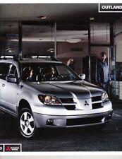 2003 03 Mitsubishi Outlander  Sales brochure MINT