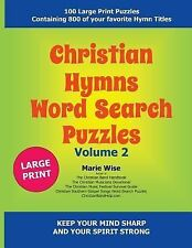 Christian Hymns Word Search Puzzles Volume 2 by Marie Wise (2015, Paperback,...
