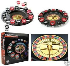 Adults Drinking Roulette Party Game Set After Dinner Glasses Spin Shot Stag Hen