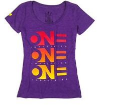 One Industries Women's Decline Scoop Neck T-Shirt. Color Purple. Size L.