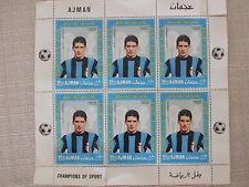 SESTINA COMPLETA FRANCOBOLLI INTER F.C. INTERNAZIONALE CALCIO DOMENGHINI -AJMAN