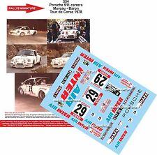 Decals 1/18 réf 554 Porsche 911 carrera Moreau - Baron Tour de Corse 1978