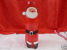 Tupperware Water Bottle Large 36oz 1 Liter Flip Cap Removable Santa Stickers Red