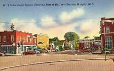 1939 MURPHY NC Business Area from Square 1950s Cars e postcard