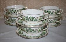 Set di 6 Vintage Wedgwood Santa Clara Pattern Zuppa 'CON PIATTINI SOTTO