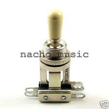 Switchcraft 3-Way Short Toggle for Les Paul w/ Cream Genuine Switchcraft Tip