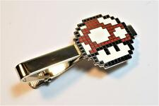 Super Mario World Bros RED MUSHROOM PIxel SNES Nintendo Suit Tie Bar Clip