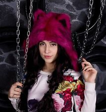 Pink Panther Original animal hat from the Ukraine (Faux wolf Hoodie Spirithood)