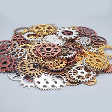 100g LOTS Bronze Silver Gold Steampunk Cogs and Gears Clock Hand Charm Mixed