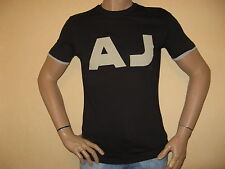 NEW MENS BOYS BLACK GENUINE ARMANI SHORT SLEEVE FITTED TEE SHIRT XX/LARGE 40/42