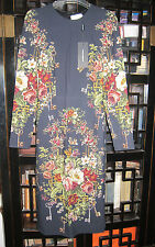 NEW Dolce & Gabbana Floral & Key-Print Dress Original:$1999.00 Size - 38/4