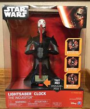Star Wars The Inquisitor Lightsaber Clock - NEW Wake up in a Galaxy Far Away!