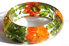 Handmade Real Flower Botanical Garden Resin Bangle Bracelet.{34}z