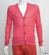 Nwt $228 Marc Jacobs Wool/Cotton Net Cardigan Sweater Top ~Pretty Bright Pink *M