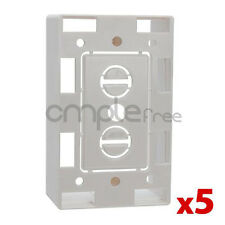 5x Low Voltage 1 Gang Bracket Mount Box Multipurpose DryWall Wall Plate NEW