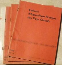 Agriculture pratique des Pays Chauds; 4 cahiers  de 1 à  4. 1965 année complète