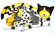 Puzzle en bois chat  Artisanal Jeux Animal Jouet Assemblage Eveil Enfant Jeu